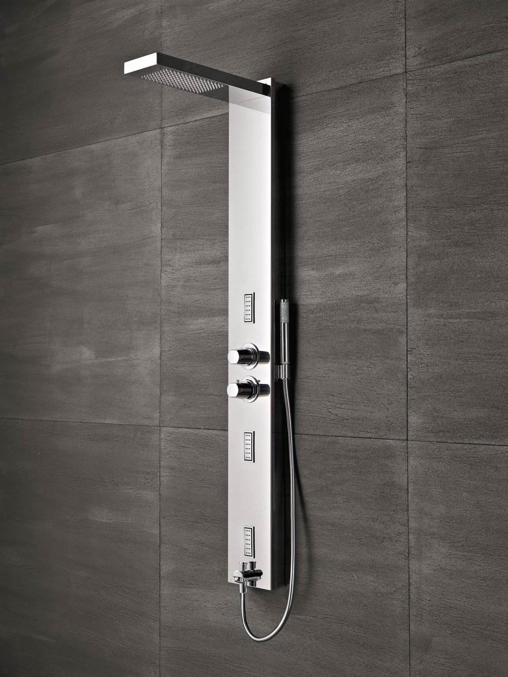 Flair pannello doccia con soffione integrato pannelli doccia glass 1989 - Rubinetti per il bagno ...