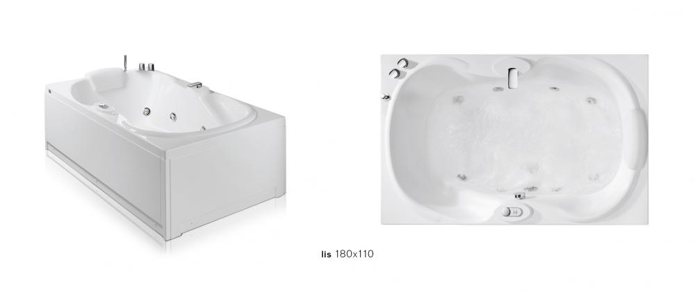 Lis vasche rettangolari angolari asimmetriche vasche - Vasca da bagno piccola 120 ...