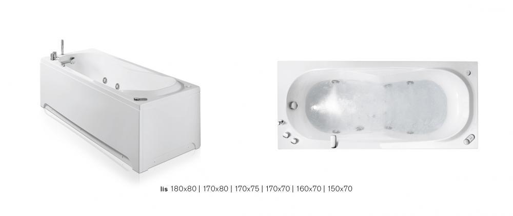 Lis vasche rettangolari, angolari, asimmetriche - Vasche GLASS 1989