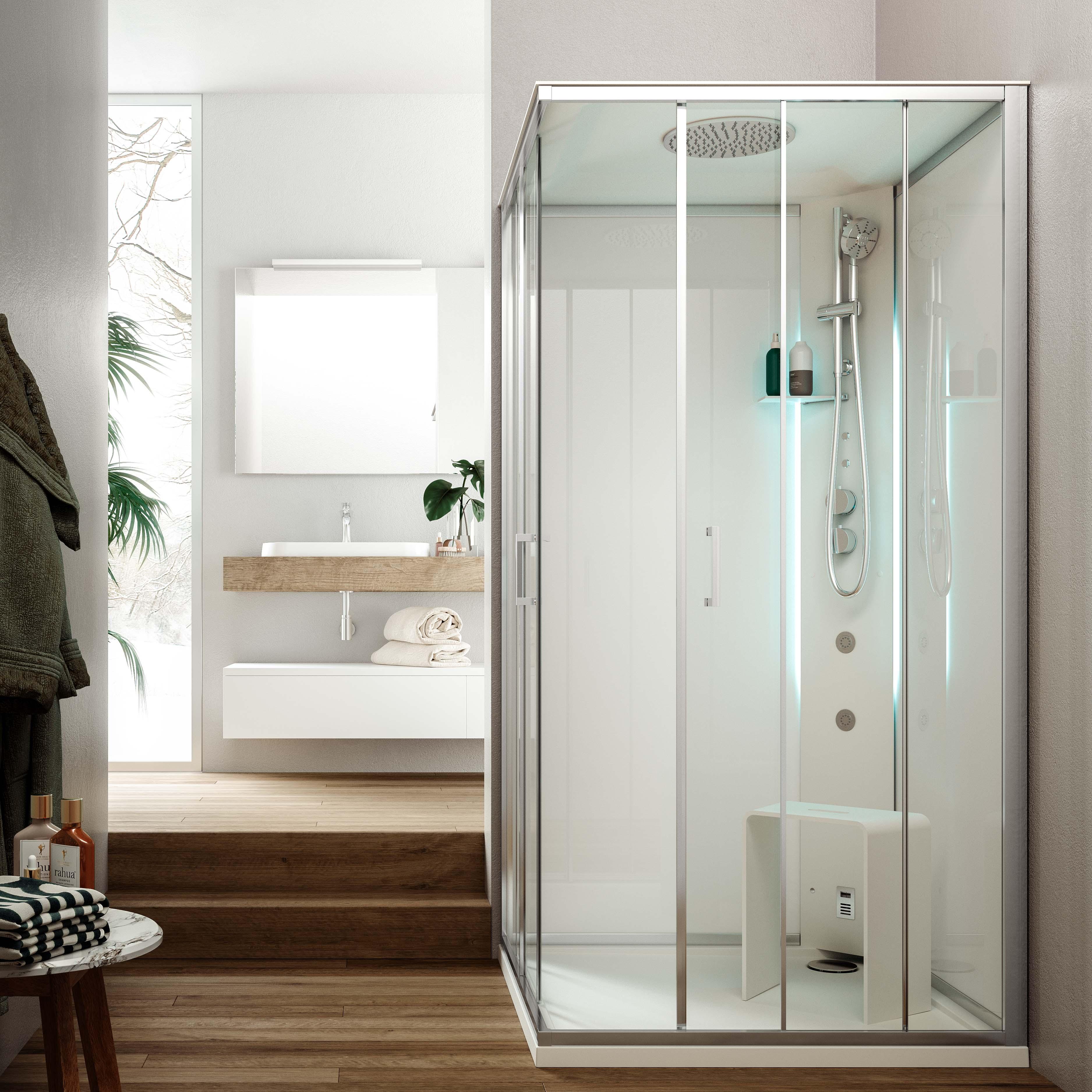 Metis S cabina doccia multifunzione con porta scorrevole