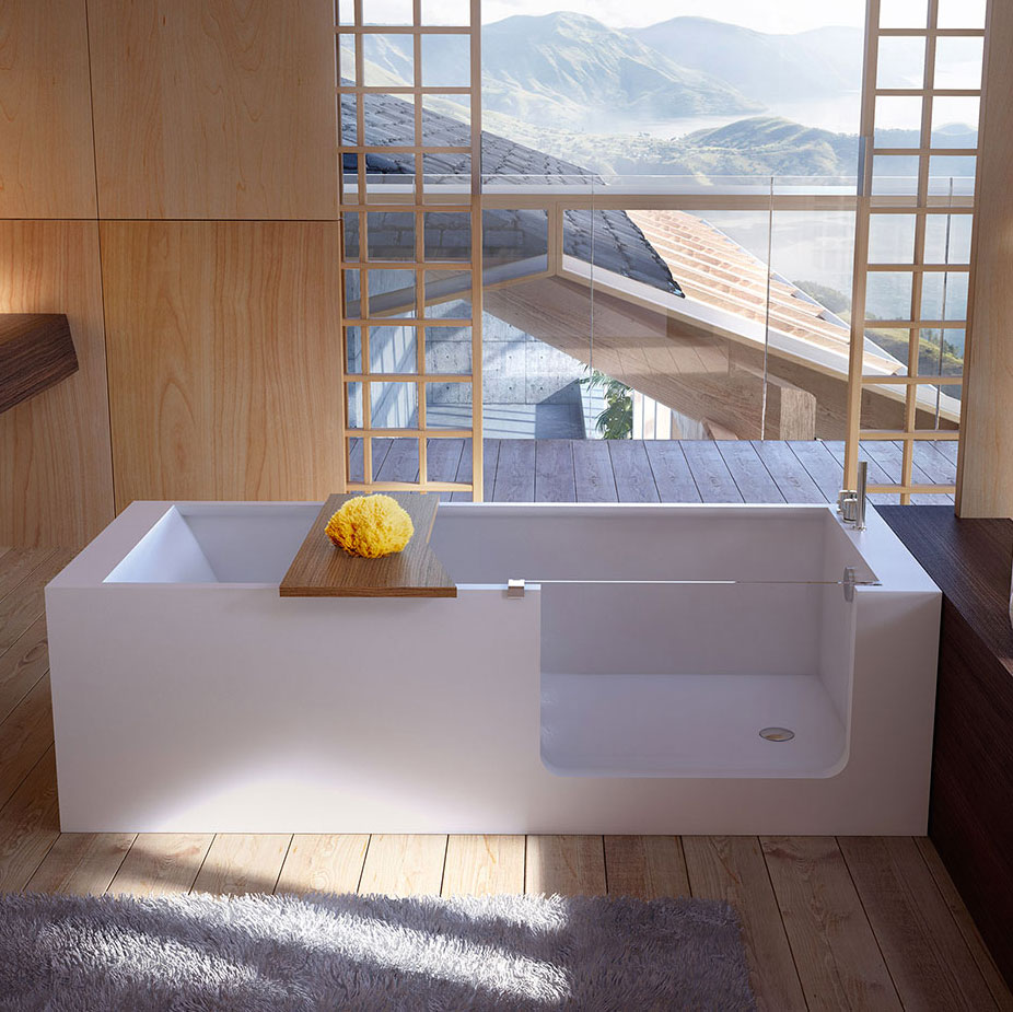 Elle bath vasca in hardlite con accesso facilitato - Vasche da bagno piccole ...