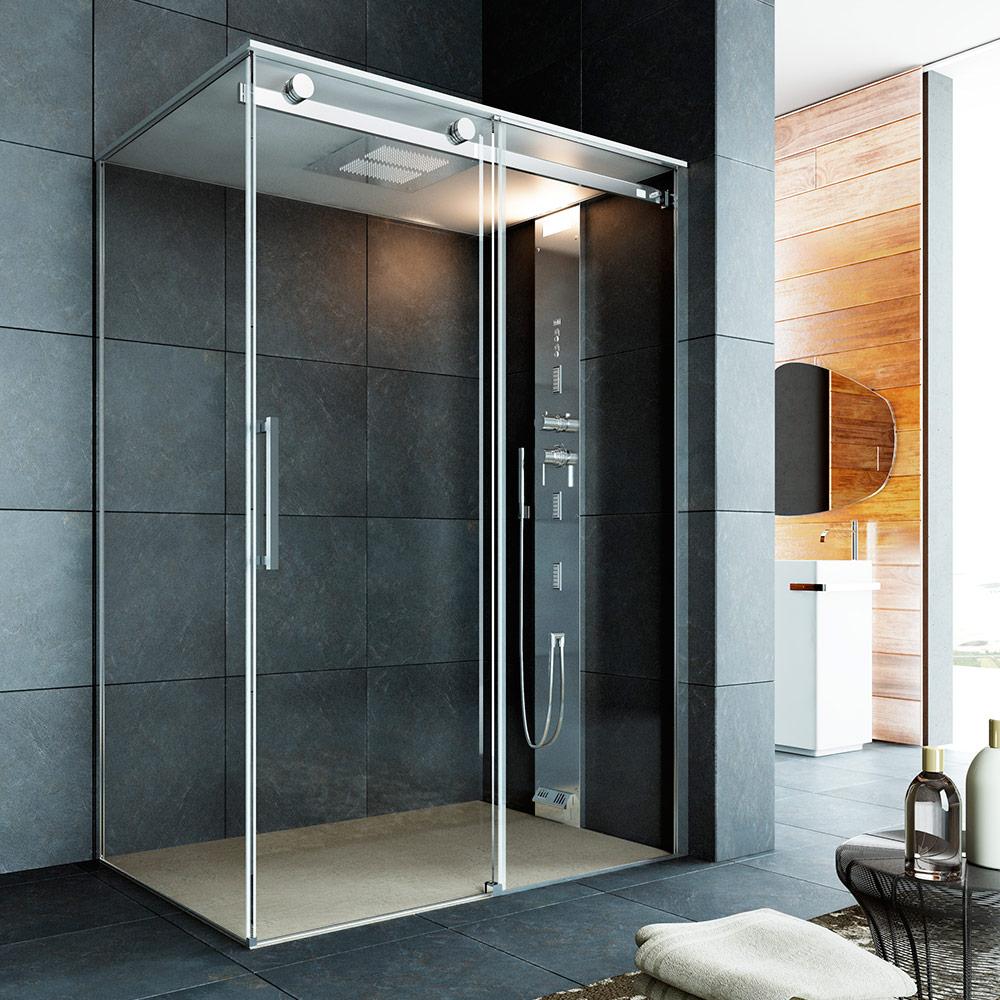 Noor steam s doccia hammam su misura con porta scorrevole for Doccia multifunzione